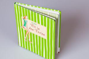 Flexible Buchdecke mit runden Ecken, gerundete Ecken am Buchblock